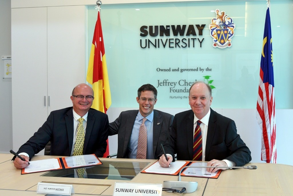 EIT signs MOU with Sunway University in Malaysia